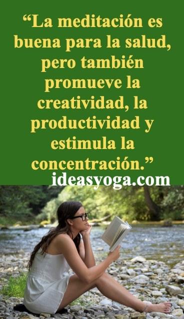 creatividad productividad - meditacion y sus beneficios - PIN-ideasyoga