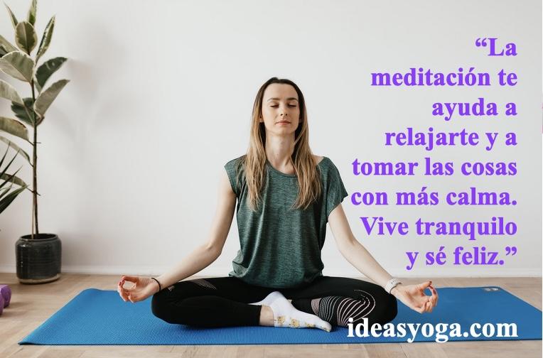relajacion clama - beneficios de la meditacion - ideasyoga