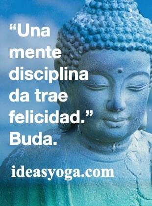 Mente disciplinada - frases reflexion motivacion - EL BUDA- ideasyoga